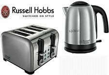 Stainless Steel Kettle and Toaster Sets Russell Hobbs Kettle and 4 Slice Toaster