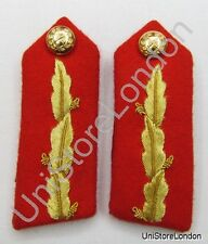 Gorget Collar Patch Red Gold Leaf FAD No.2 Dress Officers Plain Back R856
