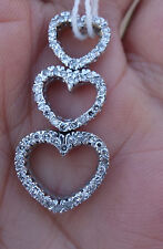 .50ct Pave single cut diamond heart pendant. Need to attach a chain 14k WG