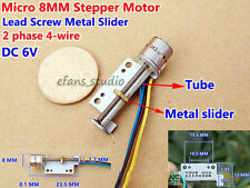 DC 6V 2-Phase 4-Wire Micro 8MM Stepper Motor Mini Linear Screw Slider Block DIY