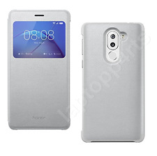 Genuine Huawei Smart Window View Side Flip Stand Case Cover For Honor 6X Silver