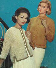 Vintage Knitting PATTERN to make Jacket Sweater Cardigan Shorty 2MohairJackets