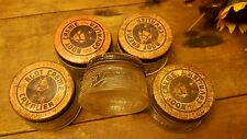 5 COLLECTIBLE ANTIQUE CAVALIER GLASS BOOT CREAM JARS EMBOSSED BALTIMORE HORSE