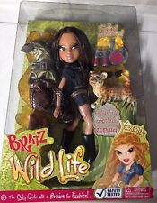 "Bratz Wild Life Yasmin Safari 10"" Fashion Doll with Collectible Spotted Leopard!"
