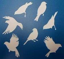 Scrapbooking - STENCILS TEMPLATES MASKS Sheet - Bird Silhouette