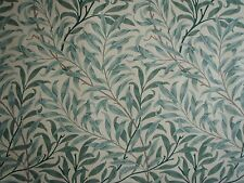 "WILLIAM MORRIS CURTAIN FABRIC ""Willow Bough's Major"" 2 MTRS CREAM/PALE GREEN"