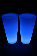 2x Bac à fleurs LED changement de couleur 87cm Pots lumineux Lampe batterie FB