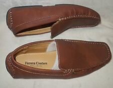 FERRERA COUTURE Italian collection mens Loafers Slip Ons brown new sz 9