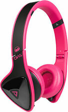 Monster DNA On-Ear Headphones (Black on Pink) Laser Pink Standard Packaging