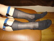 1 P Chaussettes nylon transparent socks sheer noir V05 T-41/44 plante renforcées