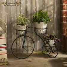 Home Garden Decor Indoor Outdoor Metal Bicycle French Provincial Planter Stand