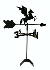 pegasus flying horse roof mount weathervane black wrought iron made in usa