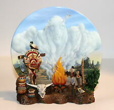 Hamilton Great Spirits Of The Earth LEGACY OF THE BUFFALO 3D Sculptural Plate