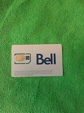 Bell Mobility combo micro/standard LTE SIM Card travel Canada/Free USA shipping