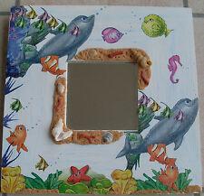 Miroir pour enfant sur le thème de la mer, création artisanale