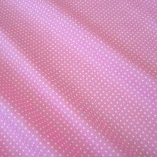Stoff Meterware Baumwolle Baumwollstoff rosa weiß Punkte 2 mm  Pünktchen