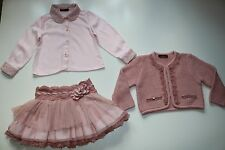 LOAN BOR SPANISH ROMANY VINTAGE PINK PEARL EMBROIDERED SET OUTFIT GIRL 2-3 YEARS
