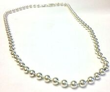 """New 925 Sterling Silver 4mm Ball Chain 16"""" Made In Italy"""