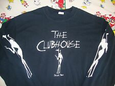 THE CLUBHOUSE Pantera Owned Strip Club Heavy Metal non tour long slv T shirt XL