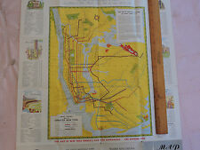 1939 New York City NYC SUBWAY MAP RARE WORLDS FAIR NYWF + Roadmap