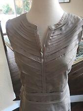 Alfani Tiered Dress - Mushroom Beige - Size 14, Cotton Blend