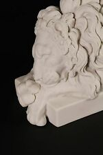 Chatsworth Lions (Pair), Carrara Marble Classical Sculptures.