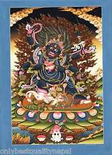 Thangka Mahakala Gönpo Bodhisattva Buddhism Schützer Thanka Tibet Buddhismus