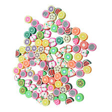 100 Mixed Color Fimo Polymer Clay Fruit Spacer Beads N3