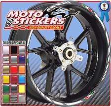 TRIUMPH Daytona 1200 - Adesivi Cerchi – Kit ruote modello racing tricolore