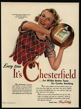 1942 CHESTERFIELD Cigarettes Salutres Golden Jubilee Basketball - VINTAGE AD
