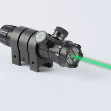 Adjustable Green Laser Airsoft Rilfe Scope Sight w/Picatinny Rail 2Mounts Switch