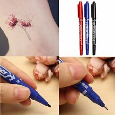 3 Colors Tattoo Transfer Pen Double Ended Skin Marker Piercing Marking Pens