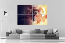 LION STYLISE Wall Art Poster Grand format A0 Large Print