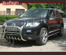 VOLKSWAGEN TOUAREG 07-10 BULL BAR, NUDGE BAR, A BAR + GRATIS!! STAINLESS STEEL