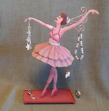 JEWELRY HOLDER~Metal Dance Ballerina~Earring Rack/Tray~Bracelets/Necklaces/Rings