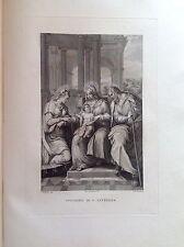 F. ROSASPINA SPOSALIZIO DI SANTA CATERINA 1830 ACCADEMIA BOLOGNA
