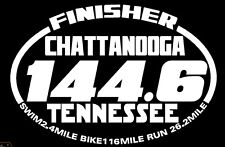 2016 Chattanooga Tennessee Ironman Triathlon Finisher Decal Swim Bike Run