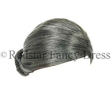 GRANNY BUN WIG GREY OLD LADY FANCY DRESS GRANDMA SECRETARY WITCH