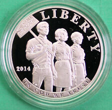 2014 Civil Rights Act of 1964 Proof 90% Silver Dollar US Mint Coin Box and COA