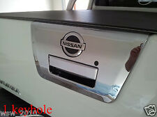 FIT NISSAN FRONTIER NAVARA D40 UTE PICKUP 05-14 CHROME TAILGATE HANDLE SURROUND