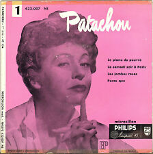 "PATACHOU ""LE PIANO DU PAUVRE"" 50'S EP  PHILIPS 432.007"