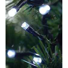 50 LED STRING LIGHTS SOLAR POWERED WHITE 6.5m OUTSIDE GARDEN FAIRY EFFECT SLSL2
