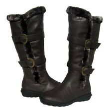 New Women's BOOTS Knee High Brown Winter Fur Lined Snow shoe Ladies size 8