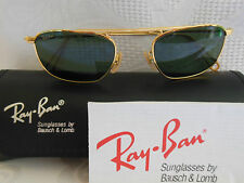 VINTAGE RAY BAN B&L SUNGLASSES CLASSIC GOLD WIRE AVIATORS USA 46mm NEW OLD STOCK