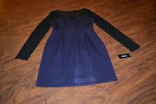 """A2- NWT Guess Los Angeles """"Margot"""" Lace Long Sleeve Dress Size 10"""