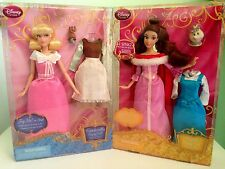 Disney Cinderella and Belle Singing Dolls and Costume Set...New