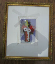 Original Anna Sandhu Ray Painting Wife Of james Earl Ray Matted Framed With COA