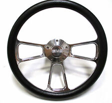 1974-1994  GMC C-Series Pick-Up Truck - Black & Chrome Steering Wheel - Full Kit