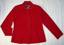 Womens Eileen Fisher Blazer size XS Jacket Pockets Red 100% Wool SW04