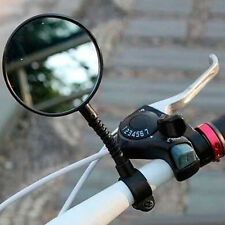 New Bike Bicycle Cycling Rear View Mirror Handlebar Glass Flexible Safety Hot